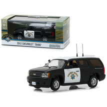 2012 Chevrolet Tahoe California Highway Patrol Black and White 1/43 Diec... - $18.02