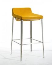 Modrest Adhil Modern Yellow Fabric Bar Stool - $286.00
