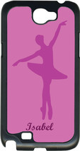 Monogrammed Purple Ballet Point Feet on Samsung Galaxy Note II 2 Hard Case Cover - $15.95