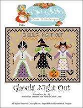 Ghoul's Night Out halloween cross stitch chart Sugar Stitches Designs  - $7.00
