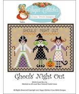 Ghoul's Night Out halloween cross stitch chart ... - $7.00