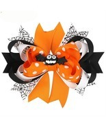 Halloween Hairpin Cartoon Bat Ghost Hair Clips Kids Girls Bows Barrette ... - £4.72 GBP