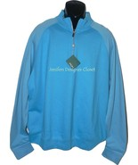 NWT BOBBY JONES Golf  M Pima cotton pullover 1/4 zip monogram neck sharp - $77.59