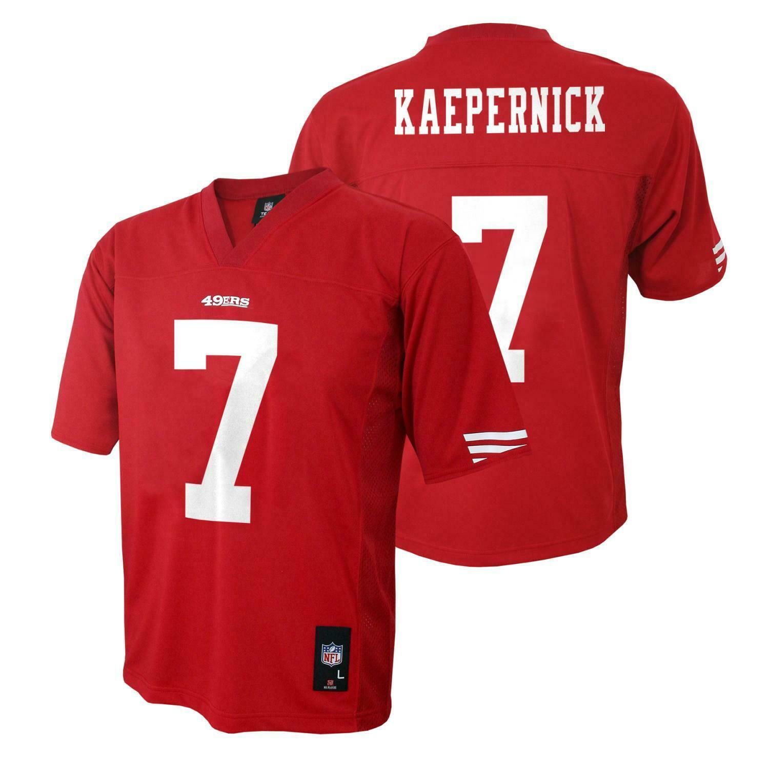 Primary image for NFL Team Apparel Boys San Francisco 49'ers Kaepernick #7 Jersey 5-6 & 7 NWT