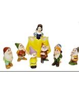 Walt Disney Production Snow white and The Sever Dwarfs Porcelain Figures... - $64.34