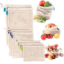 Reusable Mesh Produce Bags, Zero Waste Eco-Friendly Natural & Healthy Or... - $29.62