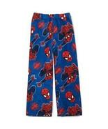 SPIDER-MAN Boys Blue Super-Soft Fleece Lounge Pants Pajamas NWT boys Size 4 - $9.38