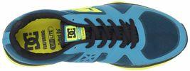 DC Shoes Uomo 'S Unilite Elastico Sportivo Blu Giallo Corsa Scarpe 7 USA Nib image 6