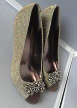 Gold 7 Maralyn ~Dark Size Toe Scott Classic Karen Peep Womens Pumps Z8Pq0wv0