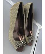 Karen Scott Womens Maralyn Peep Toe Classic Pumps ~Dark Gold Size 7 - $19.95
