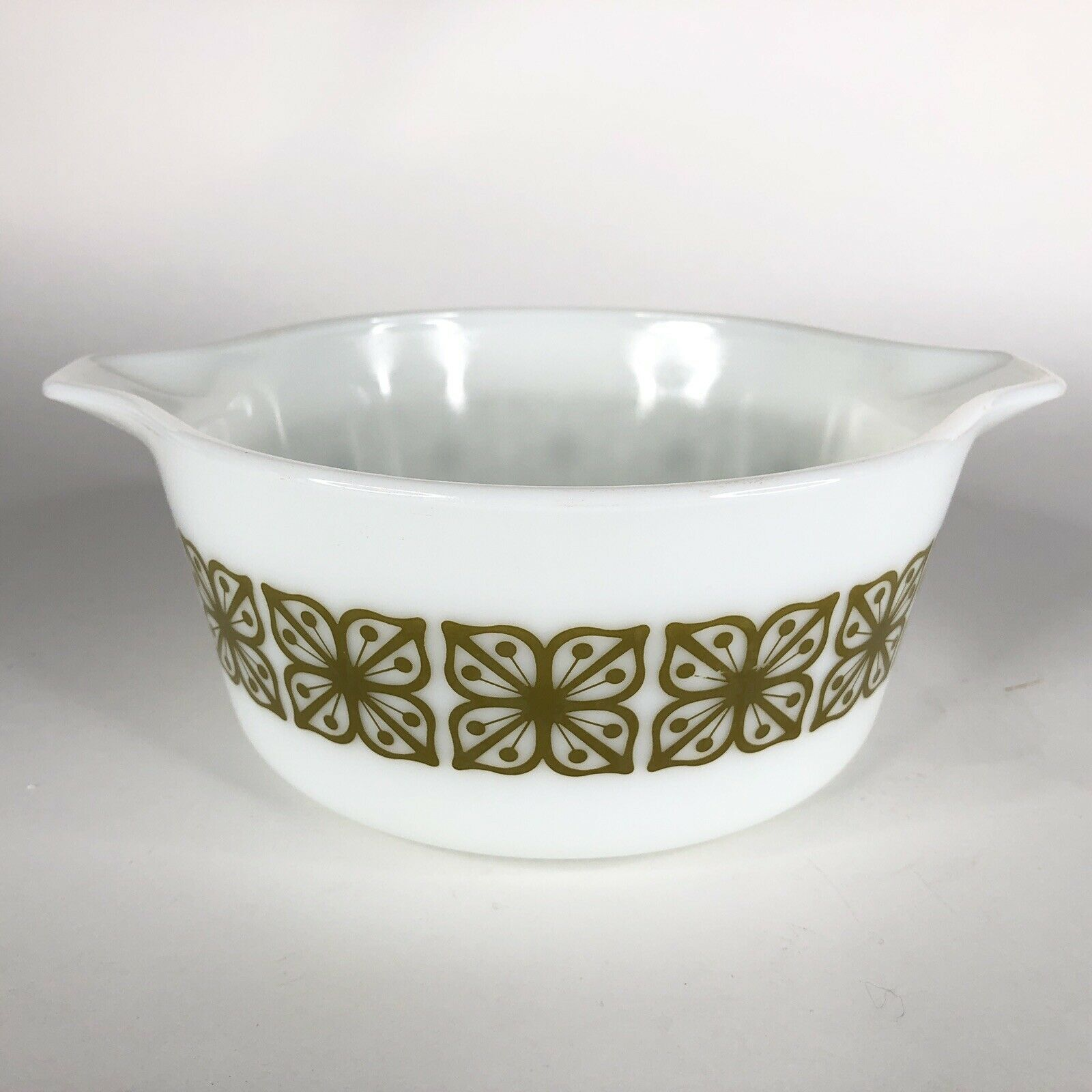 Pyrex Verde Square Green Flower Casserole Dish 474 B Covered Baking 1.5 Quart QT image 5