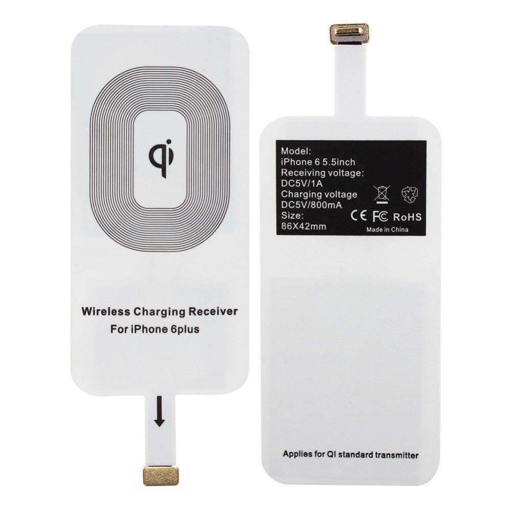 FREE iPhone Receiver with Black Qi Wireless Charging Dock Charger Pad Bundle UK