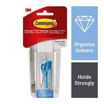 Command Caddy, Small, 1 caddy, 2 strips, Organize Damage-Free HOM16CLR-ES image 4