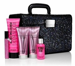 Victorias Secret Fashion Show 6 Pc Glitter Train Case Bombshell Gift Set NWT - $66.77