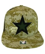 Dallas Texas Star & Stripes Camouflage Cotton Snapback Baseball Cap Digi... - $9.99