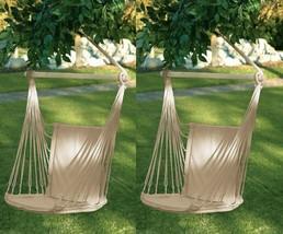 2 Cotton Padding Chair Garden Swing Porch or Tree Hanging Hammock - Set - $64.35