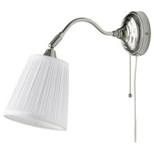 Ikea ArstidWall lamp with LED Bulb Nickel Plated/WhiteAdjustable New - $27.89