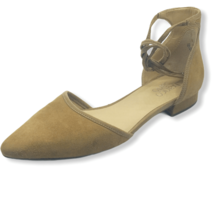 Franco Sarto Womens SYBIL Suede Pointed Toe Ankle Wrap Tie Sandal Tan 8 M - $24.74