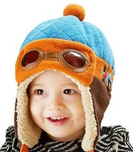 New Earflap Baby Warm Hat Cap Cute Baby Winter Hats BLUE, 10-48 Months