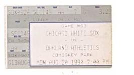 Oakland Athletics @ Chicago White Sox 8/20/90 Ticket Stub! Sammy Sosa HR... - $3.36