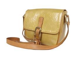 LOUIS VUITTON Christie GM Patent Leather Yellow Shoulder Bag LV17063L - $279.00