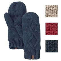 Timberland Women's Fleece Lined Cable Knit Mittens Style A1GV3 - $19.79