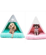Pet Teepee Tent, Soft Warm Cozy Washable Bed For Dogs & Cats Size Small ... - $68.59+