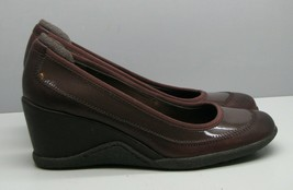 Aigner Brown Leather SHOES Wedge Heel Woman's 8 M Office Casual - $21.77
