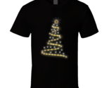 Christmas Bitcoin Light Black T Shirt