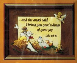 "Vtg 1984 Creative Circle Christmas Good Tidings Manger Embroidery Kit 8""... - $16.99"
