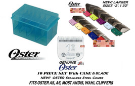 OSTER STAINLESS STEEL GUIDE COMB &Cryogen-X 10 BLADE SET Fit Many Andis ... - $120.94