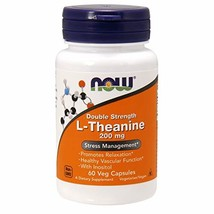 NOW Supplements, L-Theanine 200 mg with Inositol, Stress Management*, 60... - $18.45