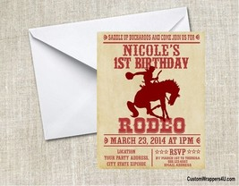 Western Rodeo Birthday Party Invitations Personalized Custom - $1.14+