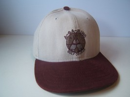 A-GA-MING Golf Course Torch Lake Hat Burgundy Beige Strapback Baseball Cap USA - $15.36