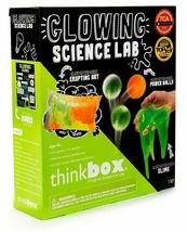 Think Box Glowing Science Lab Glow Dark Slime Power Balls Kids Craft Activity NW image 3