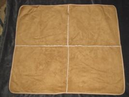 Baby Gap 2004 Faux Suede Sherpa Infant Blanket Tan Brown Leather-look - $49.49