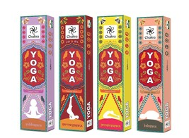 Yoga Natural and Pure Incense Sticks from Chakra Aroma - 12 Fragrances D... - $22.34