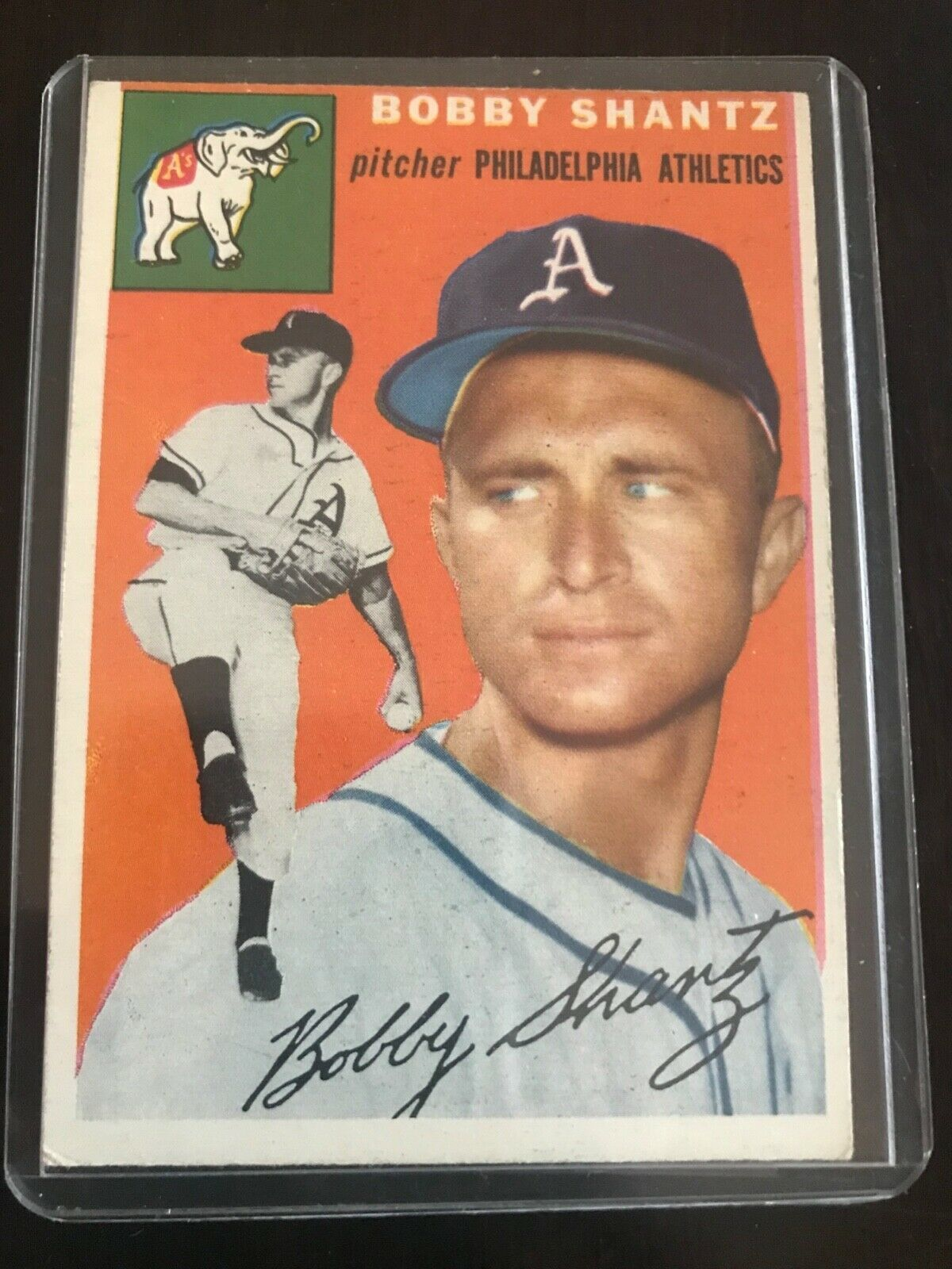Primary image for 1954 Topps Bobby Shantz Philadelphia Athletics #21 Baseball Card
