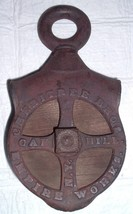 Antique Barn Cast Iron Pulley CHERRITREE Bros . Oak Hill NY Empire Works... - $250.00
