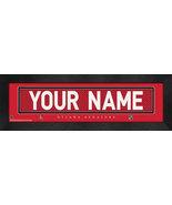 "Personalized Ottawa Senators Stitched Team Jersey 8"" x 24"" Framed Print - $38.50"