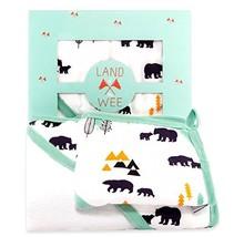 Hooded Infant Towel & Washcloth Bath Set   Extra Soft Organic & Hypoalle... - $40.94