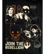 NWT! Mens sz L DISNEY STAR WARS Rogue One Join the Rebellion navy T shirt - $19.79