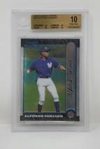 1999 Bowman Chrome #350 Alfonso Soriano Rookie Beckett 10 PRISTINE - $142.49