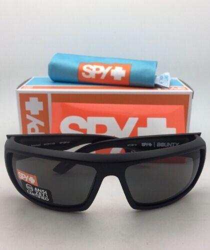 Polarizzati Spy Optic Occhiali Bounty Opaco Nero Telaio W/ Ansi Z87.1 Grey Lenti