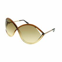 Tom Ford Liora FT0528 50F Marrone Scuro Occhiali da Sole Lenti Sfumate M... - $148.50