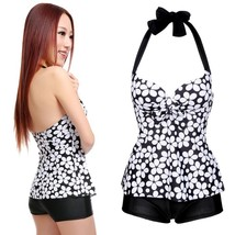 Stylish Sexy Sexy Women's Dots Beach Swimsuit Swimwear Halter Push up Ta... - $29.58