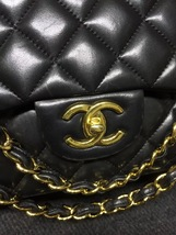 100% Authentic Chanel Black Quilted Lambskin Maxi Classic Double Flap Bag GHW image 3