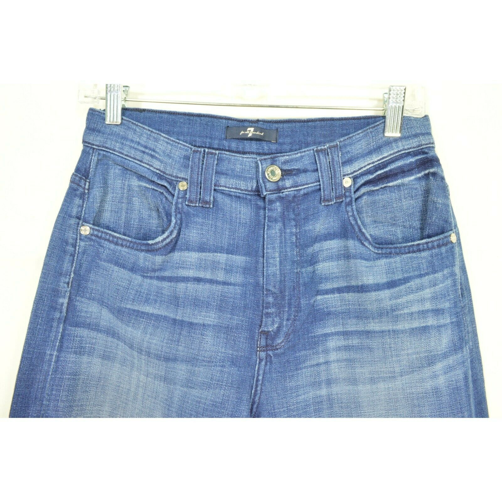 7 For All Mankind jeans cropped 29 x 24 NWT raw hem USA image 10