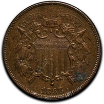 1867 Two 2 Cents Coin Lot# A 534