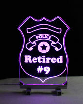Personalized Police Badge LED Sign - Policeman image 7